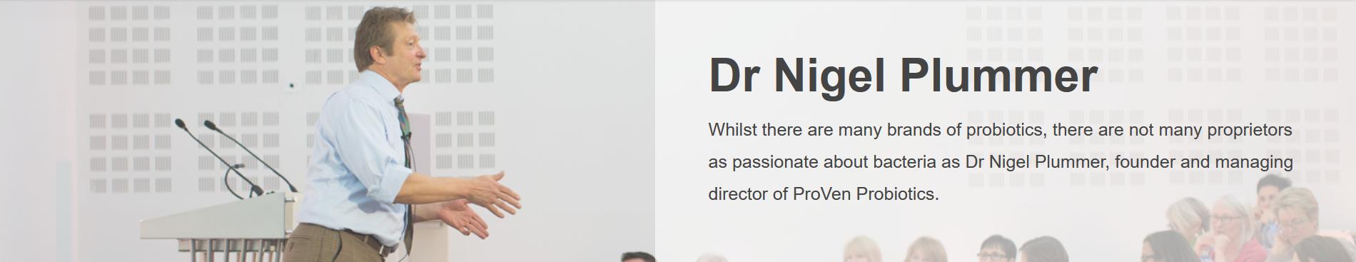 Dr Nigel Plummer